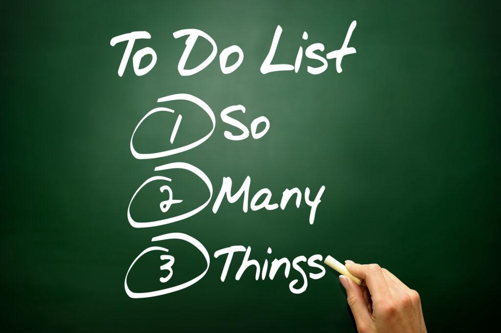 therapy checklist