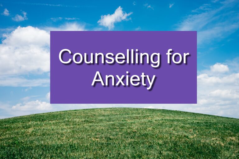 counselling for anxiety
