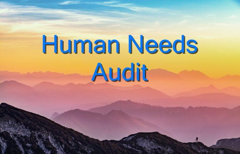 human needs audit
